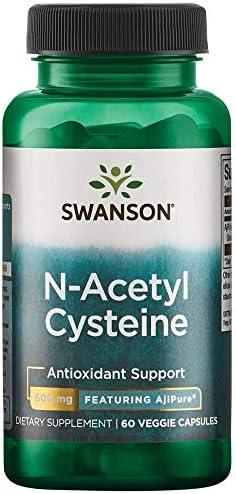 Swanson Amino Acid Ajipure N-Acetyl-L-Cysteine Pharmaceutical Grade 600 Milligrams 60 Veg Capsule