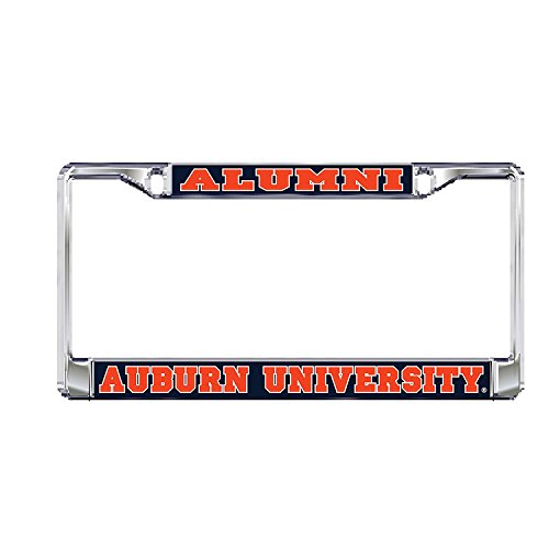 Auburn Metal - Auburn University Alumni Tigers Silver Metal License Plate Frame