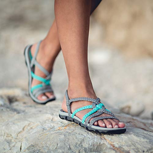 Pictures of Plaka Hiking SandalsWomen Urban Gray Turquoise Size 3