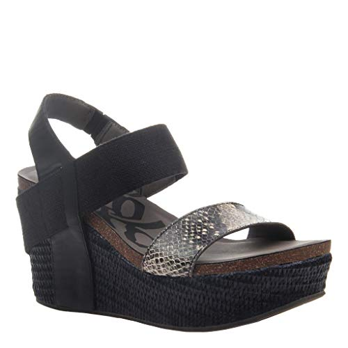 - OTBT Women's Bushnell Wedge Sandals - Black Black - 7 M US