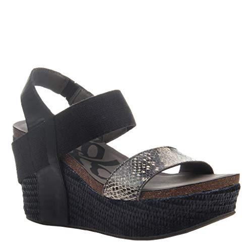 OTBT Women's Bushnell Wedge Sandals - Black Black - 6 M US ()