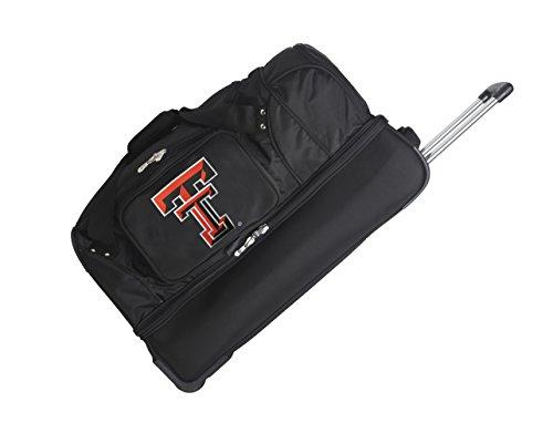 NCAA Texas Tech Red Raiders Rolling Drop-Bottom Duffel by Denco
