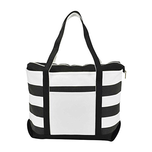 dalix-striped-boat-bag-premium-cotton-canvas-tote-in-black