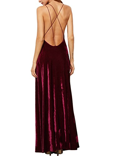 V-Neck Backless Wrap Velvet Cocktai Party Dress