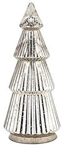 - Diamond Star Corp Mercury Glass Antiqued Gold/Silver Christmas Tree Decor - 15.25