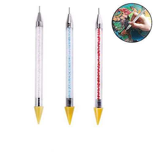 WOWOSS 3 Pack Diamond Painting Tools Drill Pen for 5D DIY Painting with Diamonds Accessories Kits for Adults Cross Stitch Kits