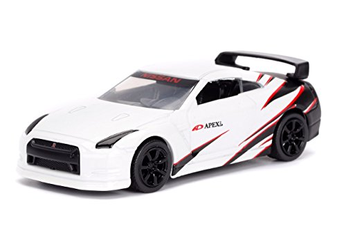 JADA 1/64 METALS JDM TUNERS 2009 NISSAN SKYLINE GT-R R35 WHITE DIECAST TOY CAR IN BLISTER PACK