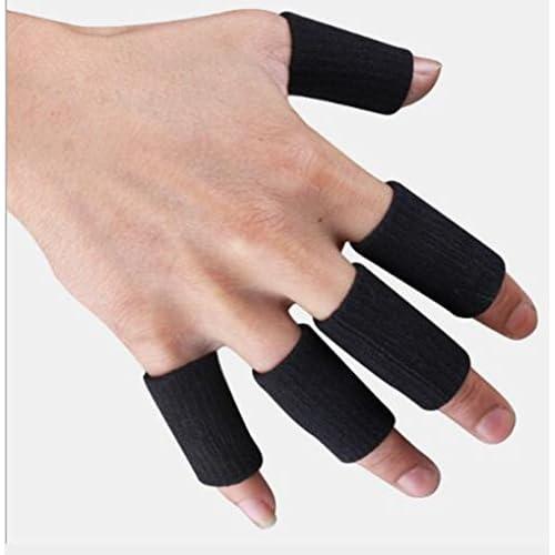 Doigt Protecteur Manchette Stretchy Sports Aid Arthritis bande Noir