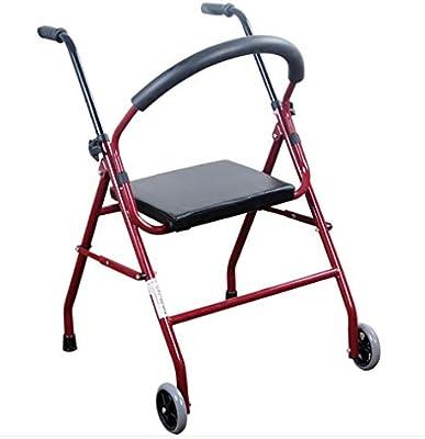 Jmung Andador para Ancianos Asiento Acolchado Caminador para ...