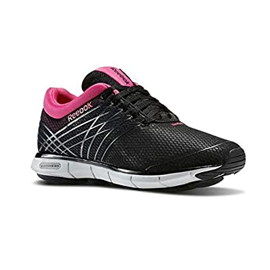 e3bb3372a ... Reebok Easytone 6 Trainers Ladies Shoes Womens Walking Fitness Black  and PinkUK ...
