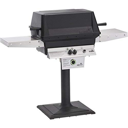 Freestanding Natural Gas Grill - Pgs T-series T40 Commercial Cast Aluminum Freestanding Natural Gas Grill With Timer On Bolt-down Patio Post
