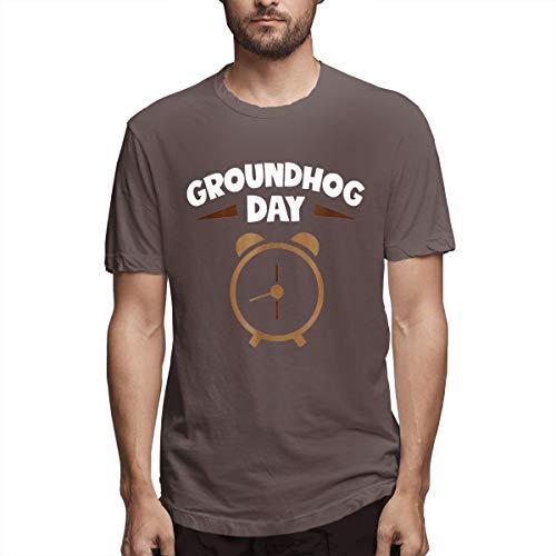 Kaivi Groundhog Day Alarm Clock T-Shirt for Man Coffee 31