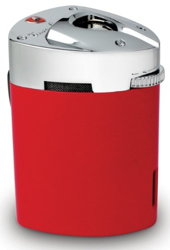 Tonino Lamborghini Mugello Red Triple Torch Flame Table Lighter by Tonino Lamborghini