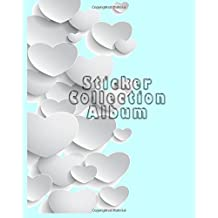 Sticker Collection Album: Blank Permanent Sticker Book