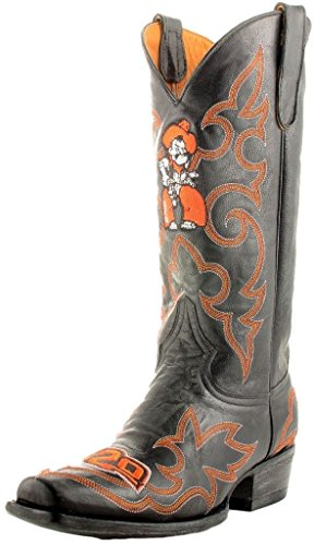 NCAA Oklahoma State Cowboys Men's Gameday Boots, Black, 10 D (M) US