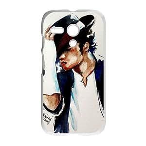 Unique Design Protective Hard Plastic Case for Moto G - Michael Jackson cheap case at CHXTT-C