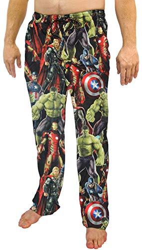 Marvel Avengers Comic Book Print Men's Sleep Lounge Pants 2XL Woven Sateen