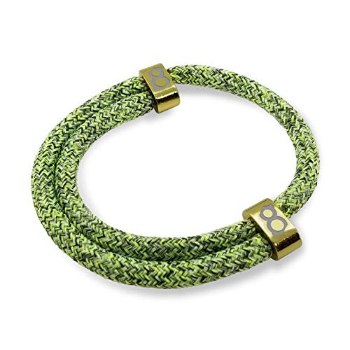 st8te - Adjustable Rope Bracelets for Men & Women. Charm Bracelets with Several Color Finishes. Fit Stainless Steel Thin Bracelets (Green Gold Flyknit)