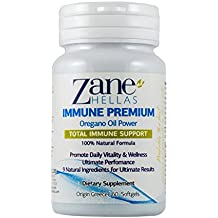 Zane Hellas Immune Premium Softgels. 100% Natural Formula. Multiple Defense System. Promotes Wellness. Helps Intestinal and Digestive Functions. 60 Softgels With 9 Natural Ingredients.