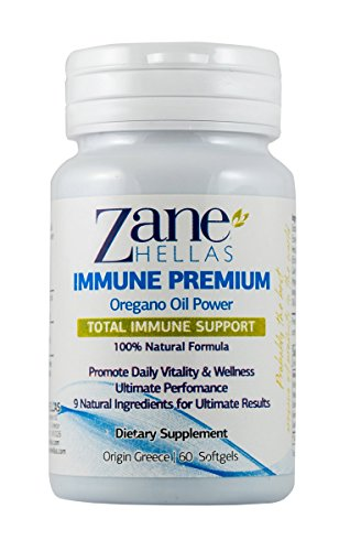 (Zane Hellas Immune Premium Softgels. 100% Natural Formula. Multiple Defense System. Promotes Wellness. Helps Intestinal and Digestive Functions. 60 Softgels with 9 Natural Ingredients.)