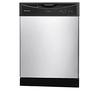 """Frigidaire FFBD2406NS 24"""" Full Console Built In Dishwasher with 14 Place Settings 3 Wash Cycles 60 dBA SpaceWise Delay Start Soft Food Disposer Energy Star Certified in Stainless"""