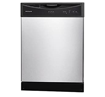 "FFBD2406NS 24"""" Full Console Built In Dishwasher with 14 Place Settings 3 Wash Cycles 60 dBA SpaceWise Delay Start Soft Food Disposer Energy Star Certified in Stainless Steel"