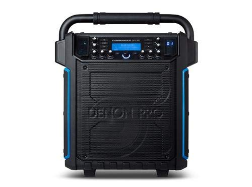 Denon Professional Portable Bluetooth Speaker, Water Resistant with Wireless Microphone, 120W COMMANDERSPORTXUS