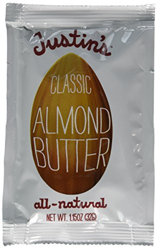 Justins Nut Butter Natural Classic Almond Butter 10 Count Squeeze Packs, 1.15-Ounce Boxes (Pack of 3)