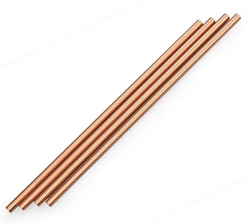 zeakko Copper Straw Cleaning Brush Included For Moscow Mule Mug (Set of 4), 8.5 inch, ()