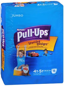 Huggies Pull-Ups Learning Designs Boys' Training Pants Size 4T-5T - 18 ct cs of 4, Pack of 4 by HUGGIES (Image #1)