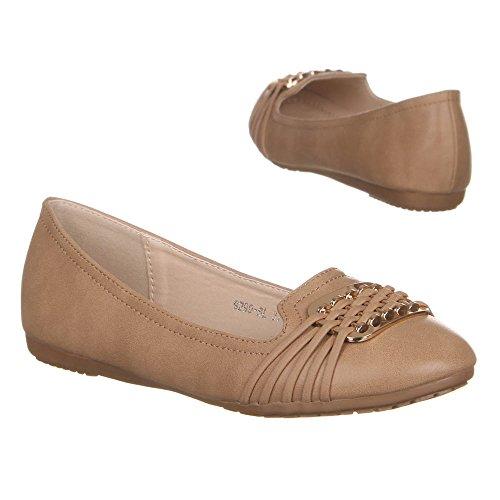 Ital-Design - Caña baja de material sintético mujer marrón claro
