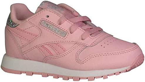 6e00efaf66381 Reebok Toddler Classic Leather Girls Fashion Sneakers Charming Pink ...