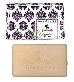 (Soap & Paper Factory Classic Shea Butter Soap, Lavender, 3 Ounce)