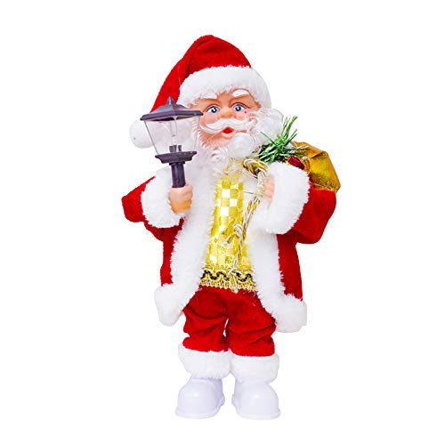 LOHOME Singing Dancing Santa Claus Christmas Musical Doll Xmas Electric Dolls Gifts Children (Lantern Lamp) ()