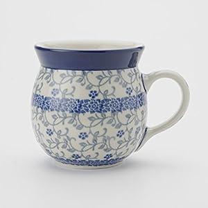 Polish Pottery Lady Mug – Forget-me-not