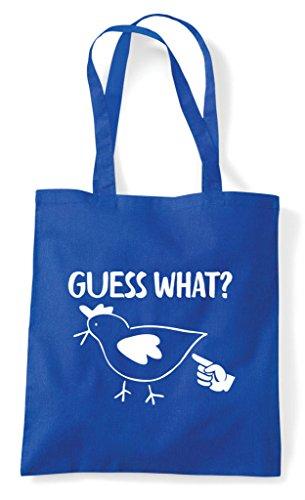 What Blue Squat Bag Shopper Chicken Guess Tote Royal dxnBd0