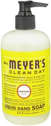 Mrs Meyers Hand Soap Sunflower 12.5 Ounce Pump (370ml) (2 Pack)