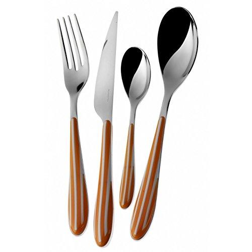 """BUGATTI - """"Zebra"""" 24-pieces flatware Colour Orange"""