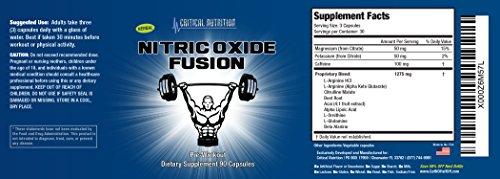 Nitric Oxide Fusion - Pre Workout Nitric Oxide Supplement with Arginine, AKG, Alpha Lipoic Acid, Ornithine, Glutamine & Beta Alanine