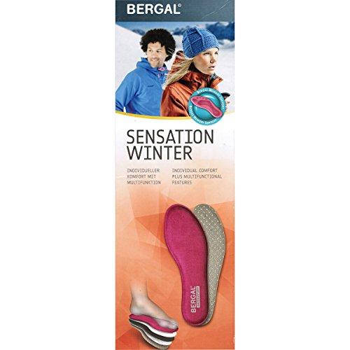 3 pairs Bergal Sensation Winter men Visko insole Gr. 41-46 Memory Support warm, tamaño de zapato:EUR 42