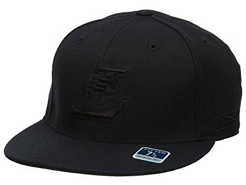 Reebok Los Angeles Lakers Fitted Hat Mens Style: HAT246-BLACK Size: 7 1/2