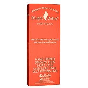 D'light Online Elegant Taper Premium Quality Candles Set of 12 3