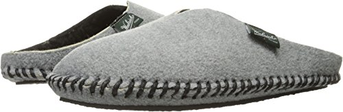 Woolrich Women's Fleece Mill Scuff Slipper, Steel Gray, Medium/10-11 M US