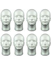 MERIGLARE 8 x 52 cm manlig frigolit skyltdocka huvud display skum för glasögon hem salong