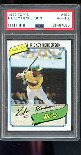 - Rickey Henderson Graded PSA 4 VG-EX (Baseball Card) 1980 Topps - [Base] #482