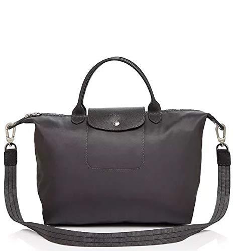 Longchamp - Bolso al hombro para mujer gris gris