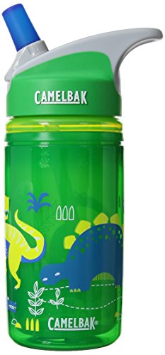 CamelBak Eddy Kids Insulated Water Bottle, Green Dino, 12oz ()