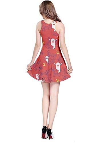 CowCow - Vestido - para mujer Orange Ghosts