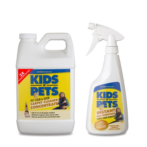 KIDS N PETS CARPET PACK – 2X CARPET AND UPHOLSTERY CONCENTRATE 48 OZ. AND STAIN and ODOR REMOVER 16 OZ WITH SPRAYER, My Pet Supplies