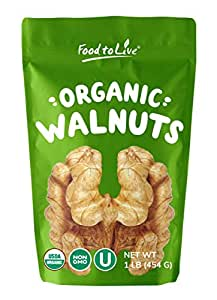 Organic Walnuts, 1 Pound - Non-GMO, Kosher, Bulk
